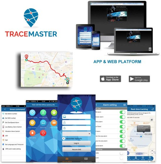 tracemaster gps tracker auto interface